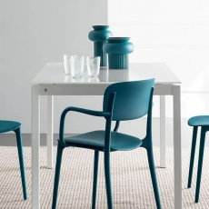 Duca 110cm Non-Extending Dining Table (CS4089-FR-110) by Calligaris