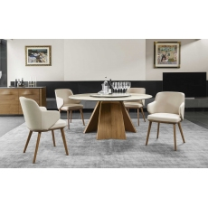 Icaro 160cm Round Dining Table (CS4113-FD-160) by Calligaris