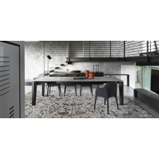 Alpha 220-280cm Extending Dining Table (CS4120-R 220) by Calligaris