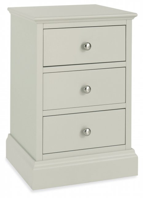 Ashby Cotton 3 Drawer Nightstand
