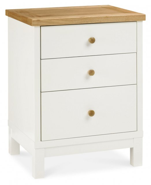 Atlanta Two Tone 3 Drawer Nightstand