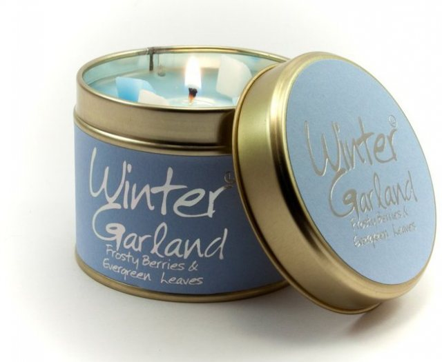 Winter Garland Scented Candle Tin