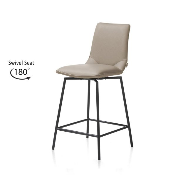 Anthracite Davy Bar Stool by Habufa