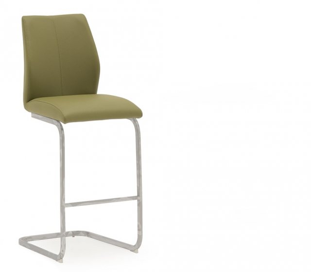 Elis Bar Stool Olive Green & Chrome Eli-250-OL