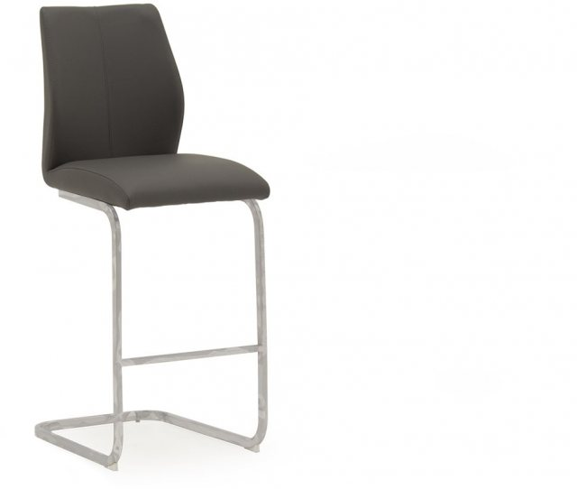 Elis Bar Stool Grey & Chrome Eli-250-GY