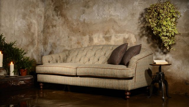 Dalmore Petit Sofa by Tetrad Harris Tweed