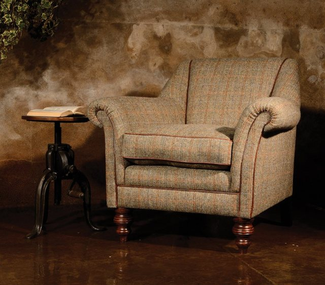 Dalmore Accent Chair by Tetrad Harris Tweed