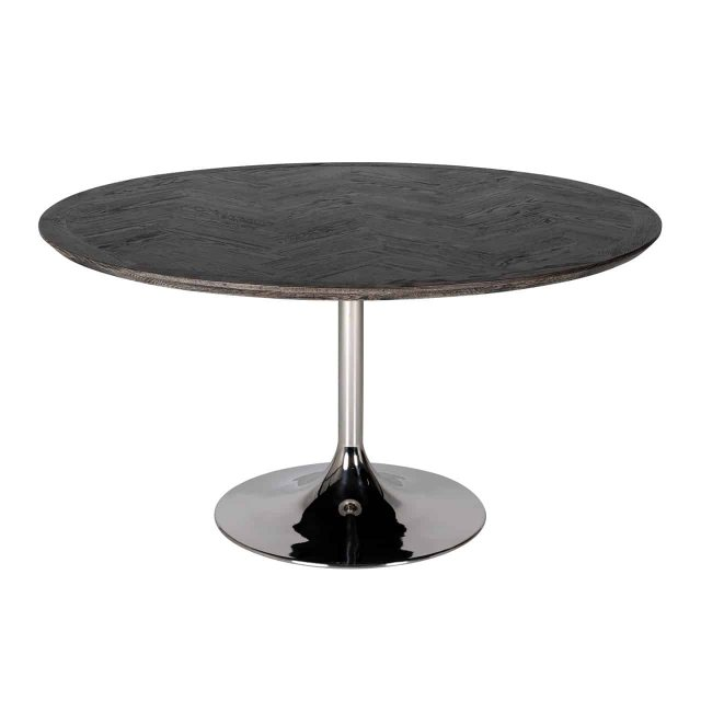 Blackbone 140cm Round Dining Table - Silver Collection