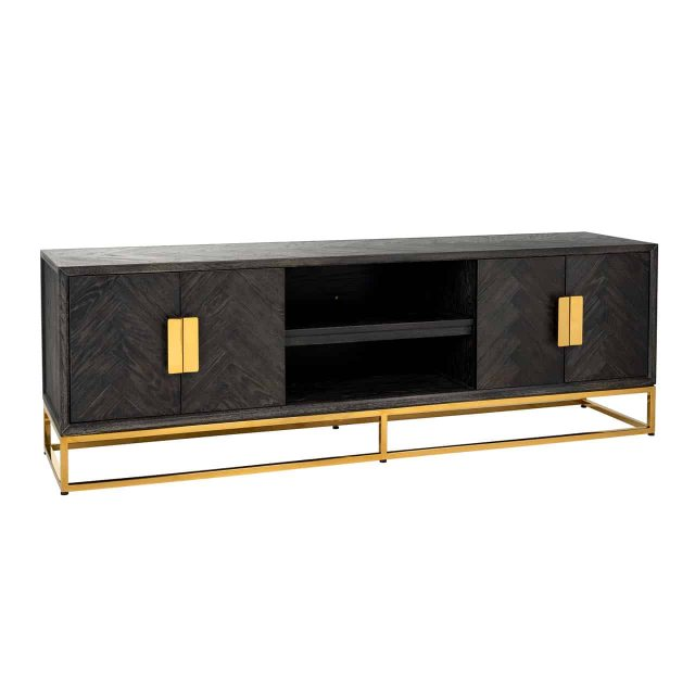 Blackbone 185cm TV Sideboard - Gold Collection