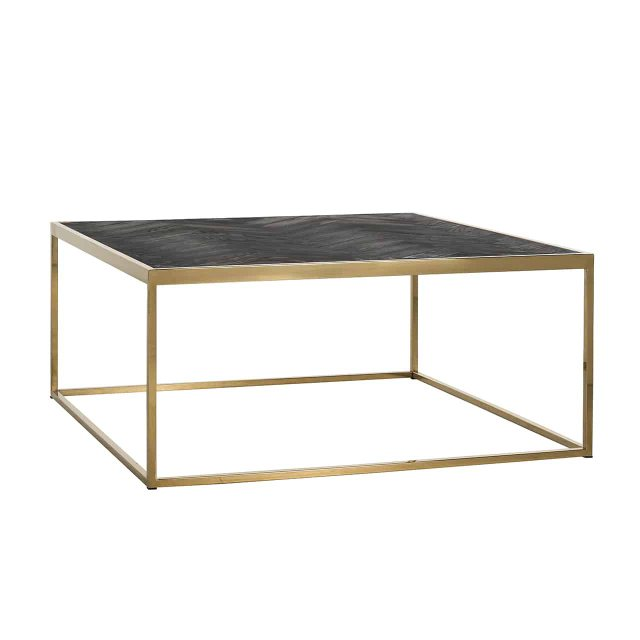Blackbone 90 x 90cm Coffee Table - Gold Collection