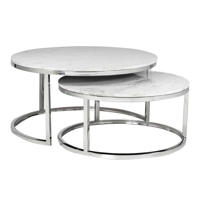 Richmond Interiors Levanto Nest of 2 Round Coffee Tables by Richmond Interiors