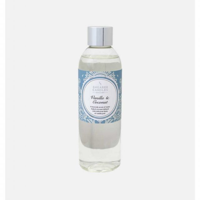 Vanilla and Coconut Diffuser Refill Bottle 200ML by Shearer Candles