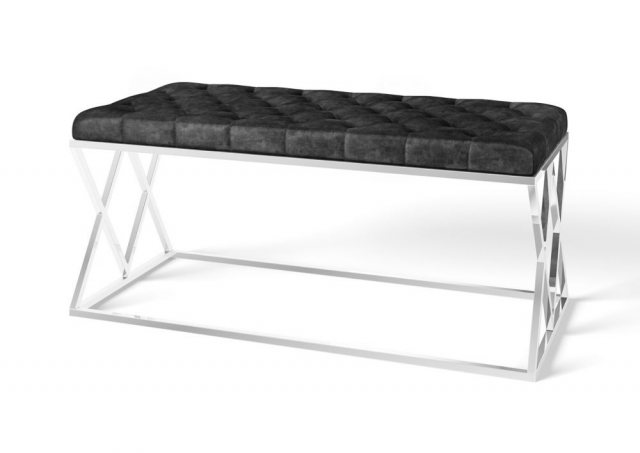 Adele Upholstered Bench (Black) by Torelli