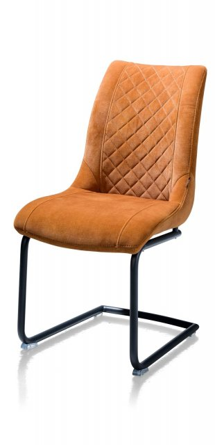 Armin Fabric Dining Chair (Cognac) by Habufa
