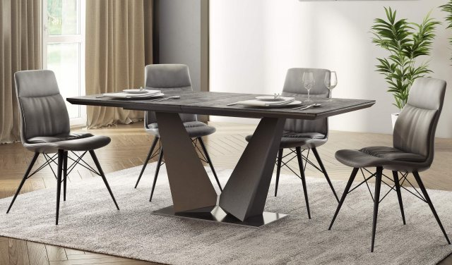 Westin Ceramic 180-220cm Extending Dining Table Grey by Torelli