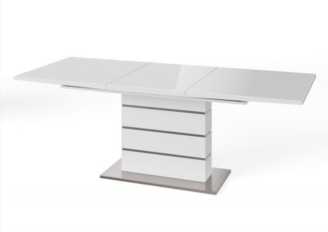 Massimo 160cm-220cm Extending Dining Table (White) by Argento