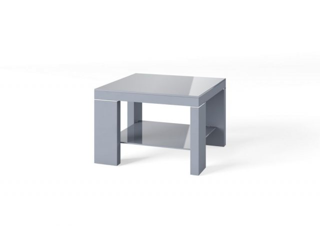 Lucca Dark Grey Side Table by Argento