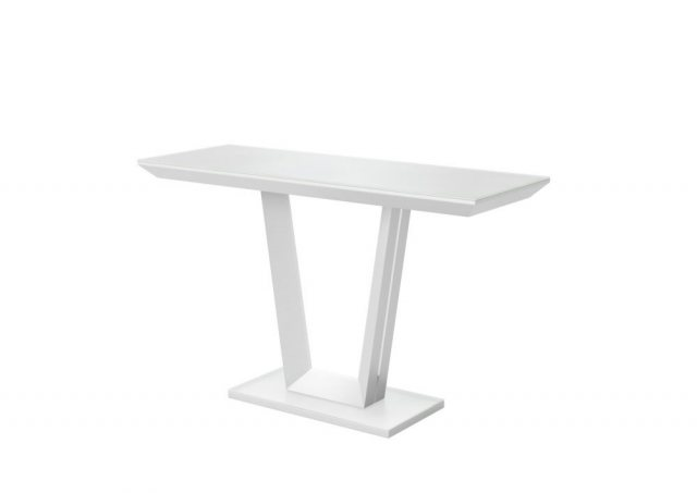 Vivaldi Matt White Console Table