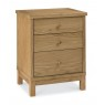 Atlanta Oak 3 Drawer Nightstand