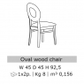 Grigio Oval Dining Chair by San Martino