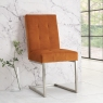 Tivoli Upholstered Cantilever Chair - Harvest Pumpkin Velvet