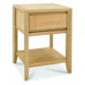 Bergen Oak Lamp Table with Drawer
