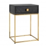 Blackbone Side Table with Drawer - Gold Collection