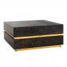Blackbone 90 x 90cm Block Coffee Table - Gold Collection