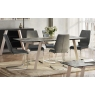 Agata Grey Faux Leather Dining Chair by Argento