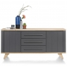 Jardin 190cm Sideboard (Anthracite) by Habufa