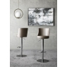 Bruno Taupe Faux Leather Bar Stools (Set of 2) by Torelli