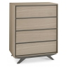 Brunel Scandi Oak & Dark Grey 4 Drawer Tall Chest