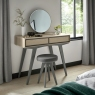 Brunel Scandi Oak & Dark Grey Dressing Table Stool