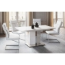Silvio 130cm-170cm Extending Dining Table (White) by Argento