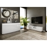 Florence White Entertainment Unit with LED Lighting