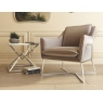 Lara Mink Velvet Lounge Chair by Torelli