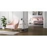 Bianca Pink Velvet Swivel Lounge Chair