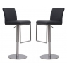 Enzo Grey Faux Leather Bar Stools (Set of 2)