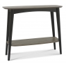 Vintage Weathered Oak Console Table with Shelf