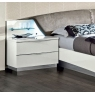 Onda White 2 Drawer Maxi Bedside