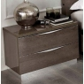 Platinum 2 Drawer Bedside
