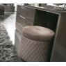 Platinum Quilted Pouffe Stool by Camel Group