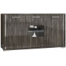 Grigio 3 Door Sideboard with LED Lighting by San Martino